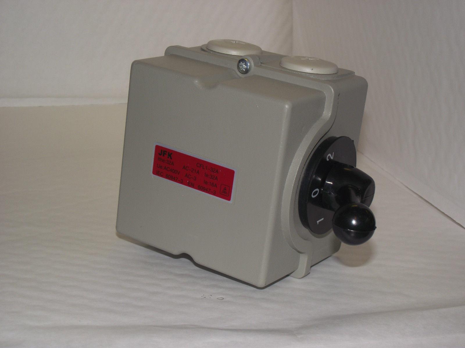 Motor Reversing Switch Single Or 3 Phase 32amp 4 Pole Lathe Car Lift