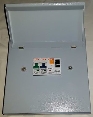 2 Way Metal Consumer Unit + 30mA RCD