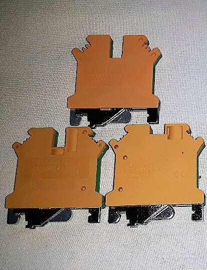 2.5, 4 & 6mm Earth Din Rail Terminal Connectors