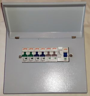 6 Way Metal Consumer Unit + 80Amp 30mA RCCB