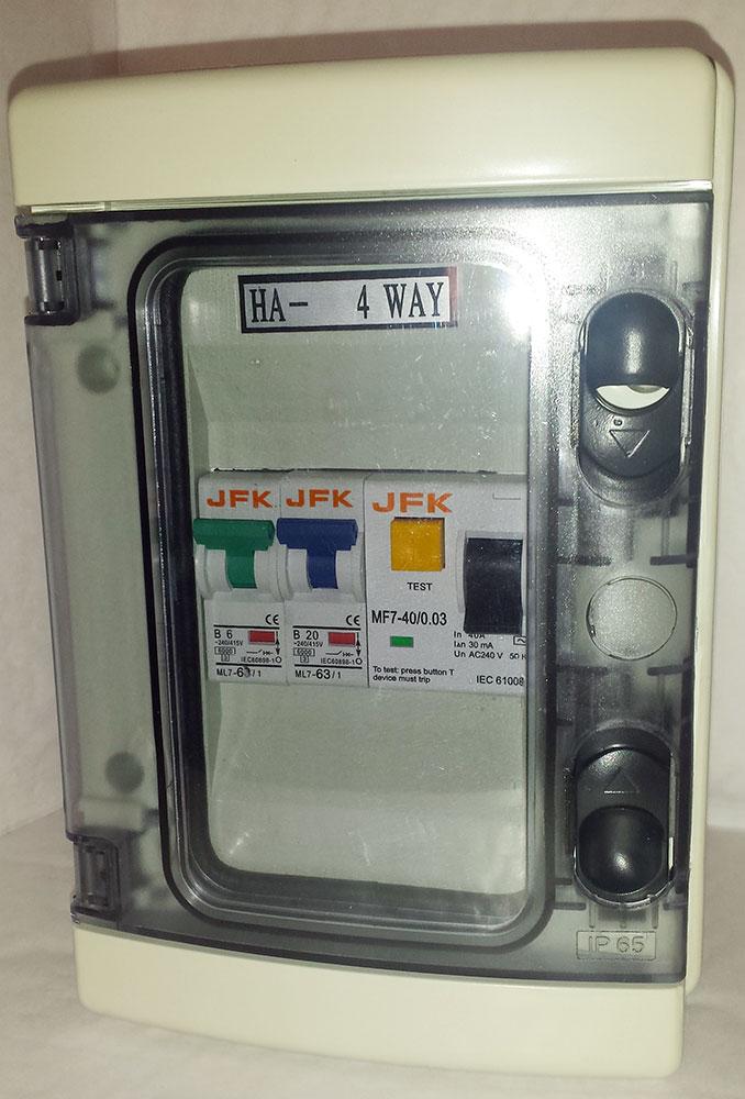 Plastic Consumer Unit 2 Way + 30ma RCD