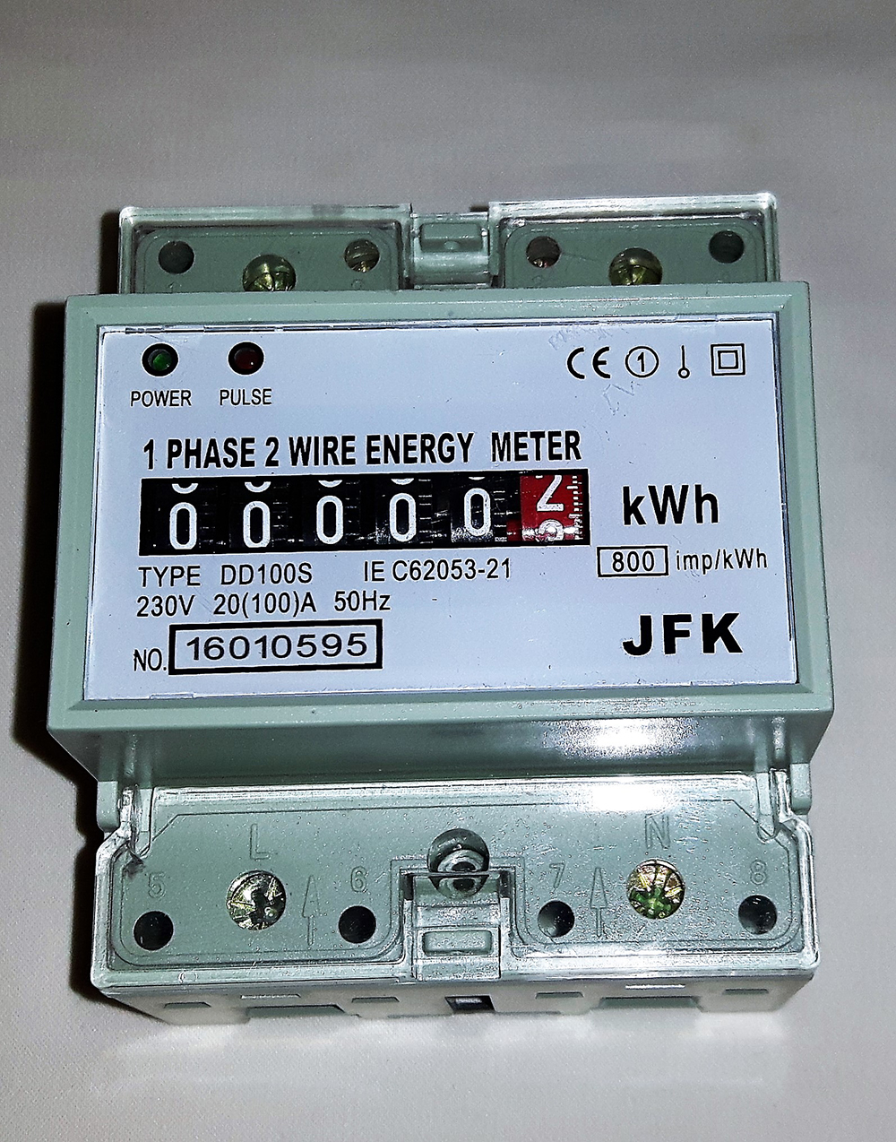 Kilowatt Hour Meter : Kilowatt hour power consumption meter jfk electrical